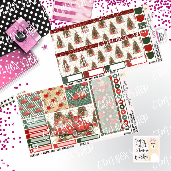 Home For the Holidays A La Carte or Deluxe Weekly Sticker Kit   Planner Sticker Kit   Weekly Sticker Kit   EC Stickers   Planner Stickers