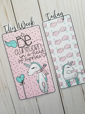 Be a Unicorn Travelers Notebook or Planner Bookmark