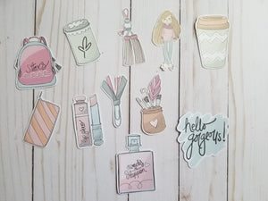 Hello Gorgeous Die Cuts / Light Skin Tone / Hello Gorgeous Die Cuts /  Die Cuts / Die Cut Set