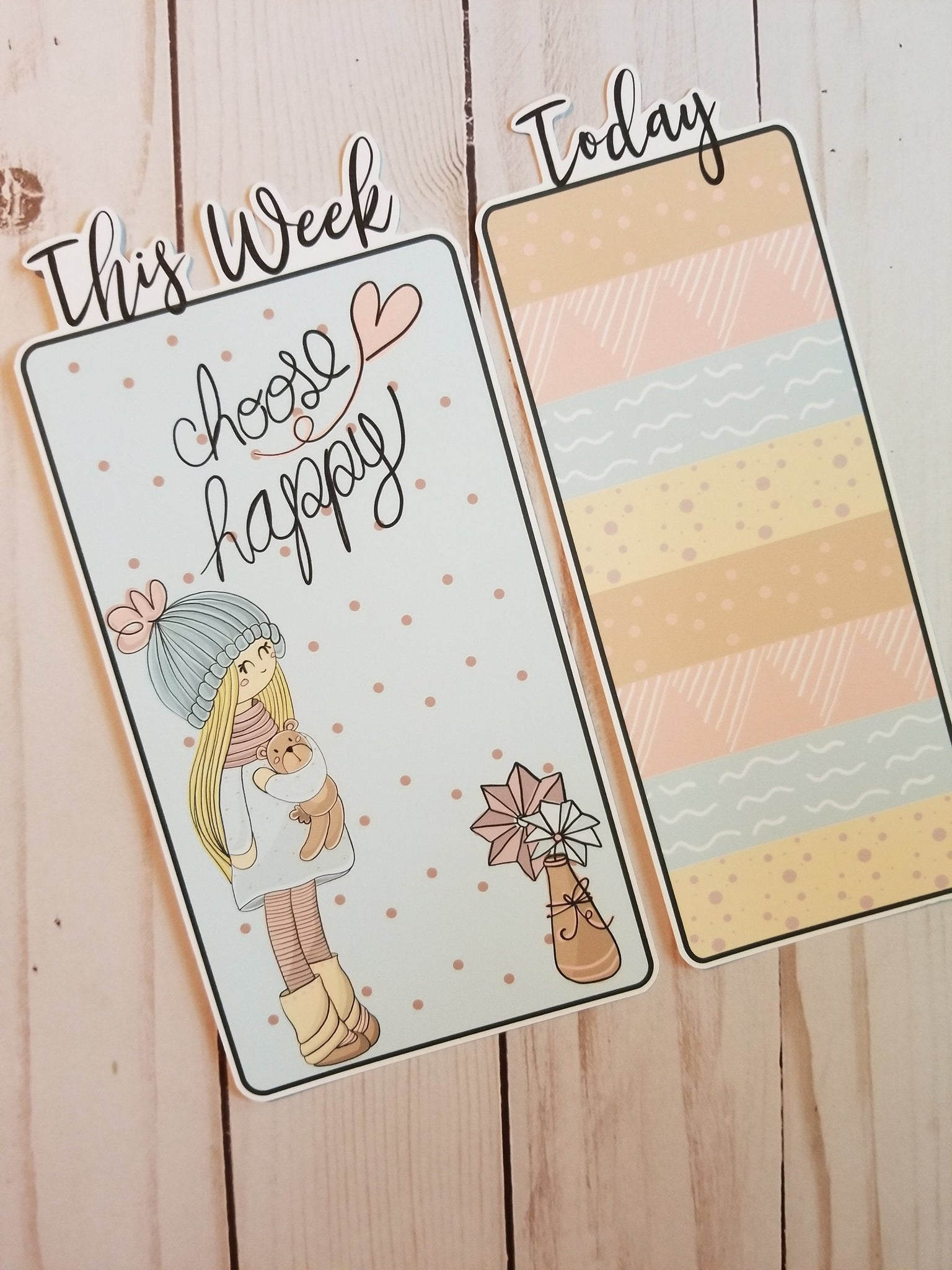 Choose Happy Travelers Notebook or Planner Bookmark