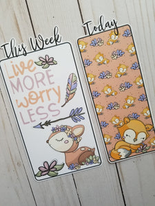 Live More Worry Less Travelers Notebook or Planner Bookmark