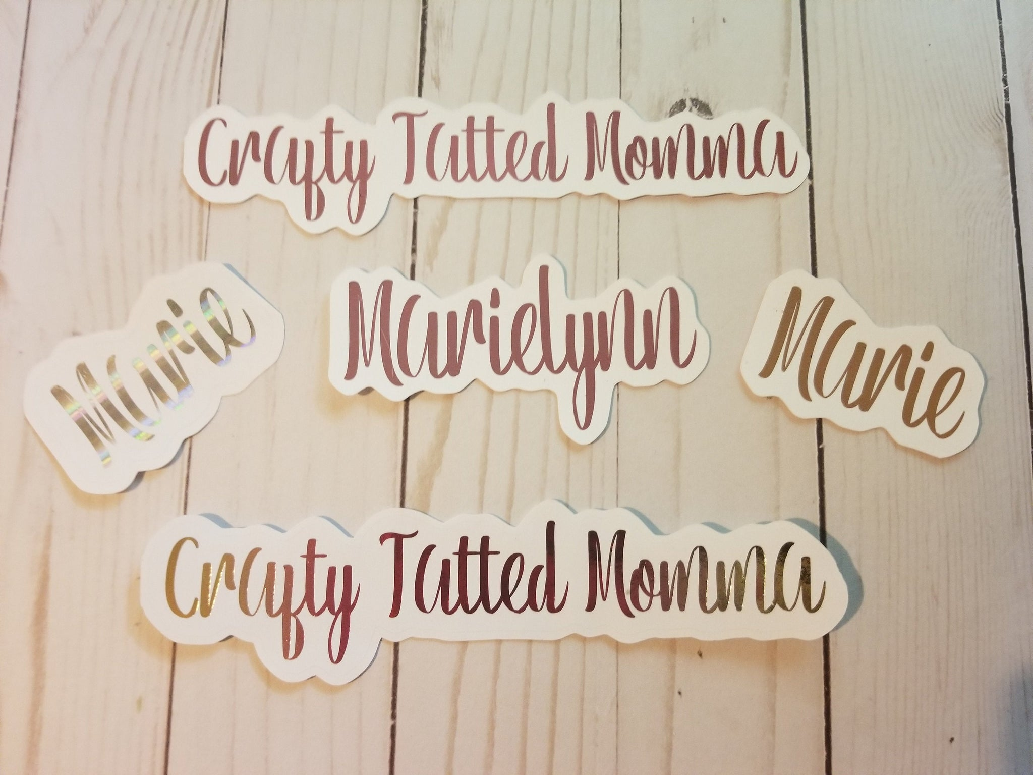 Personalized Name Foiled Die Cut or Sticker