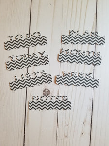 Page Toppers / Word Toppers / Page Marker or Dashboards Toppers / Word Tabs / Set of 7 Toppers / Black and Grey Chevron