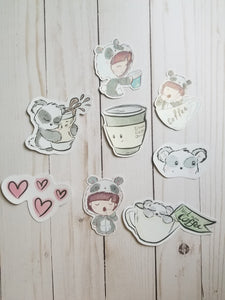 Planner Girl Panda Die cuts /  Panda Girl and Panda Die Cuts / Planner Die Cuts / Girl Die Cuts / Die Cuts / Set Of Die Cuts