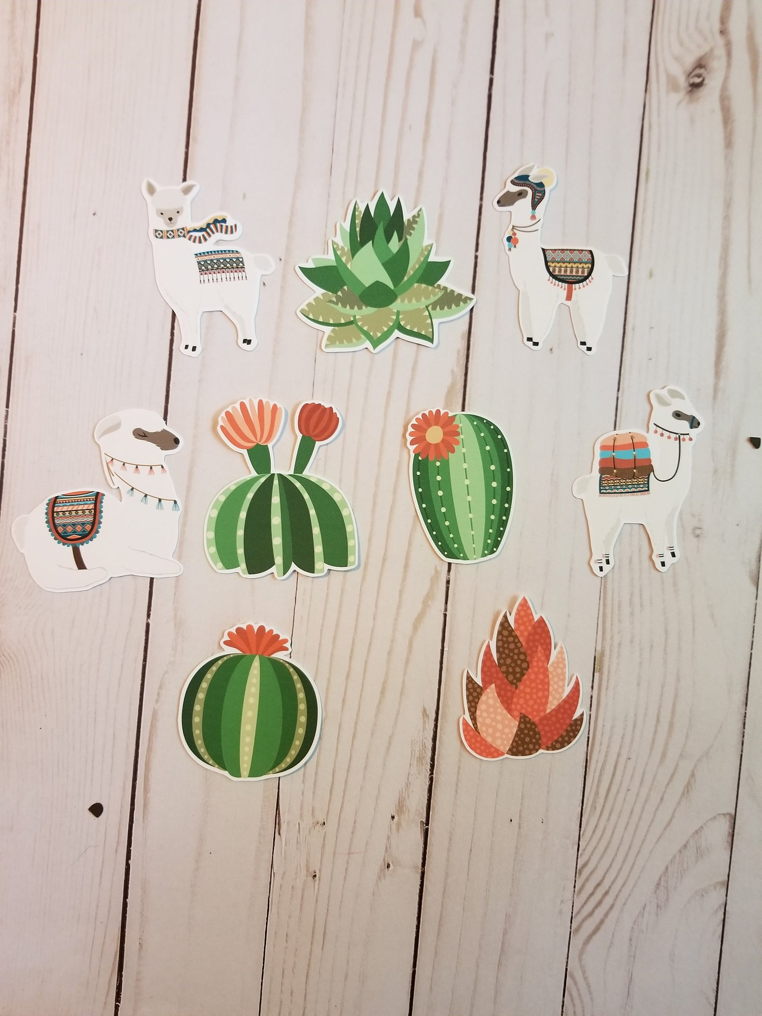 Llama and Cactus Die Cuts / Llama Die Cuts / Cactus Die Cuts /  Die Cuts / Die Cut Set