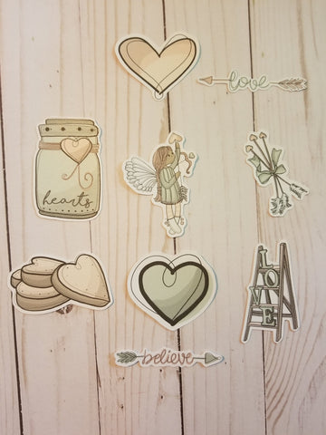 Angel Girl Die cuts, Light Skin Tone or Dark Skin Tone, Planner Girl Die Cuts