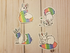 Hand Drawn Caticorn Die Cuts / Rainbow   Yellow   Teal / Caticorn / Die Cut / Rainbow Caticorn / Yellow Caticorn/Teal Caticorn /Planner Diecut
