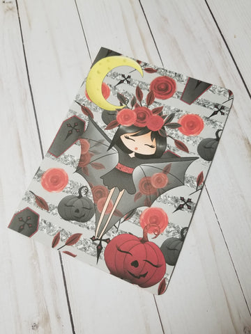 Vampire Dashboard / Halloween / Dashboard / TN Dashboard / Traveler's Notebook Dashboard  / TN Insert / Planner Dashboard / Planner Insert