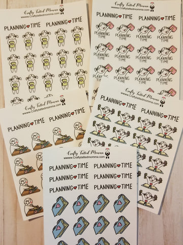 Lil' Mary Planning Stickers / Planning Stickers / Character Stickers / Planner Stickers  / Functional Stickers / Lil' Mary Stickers