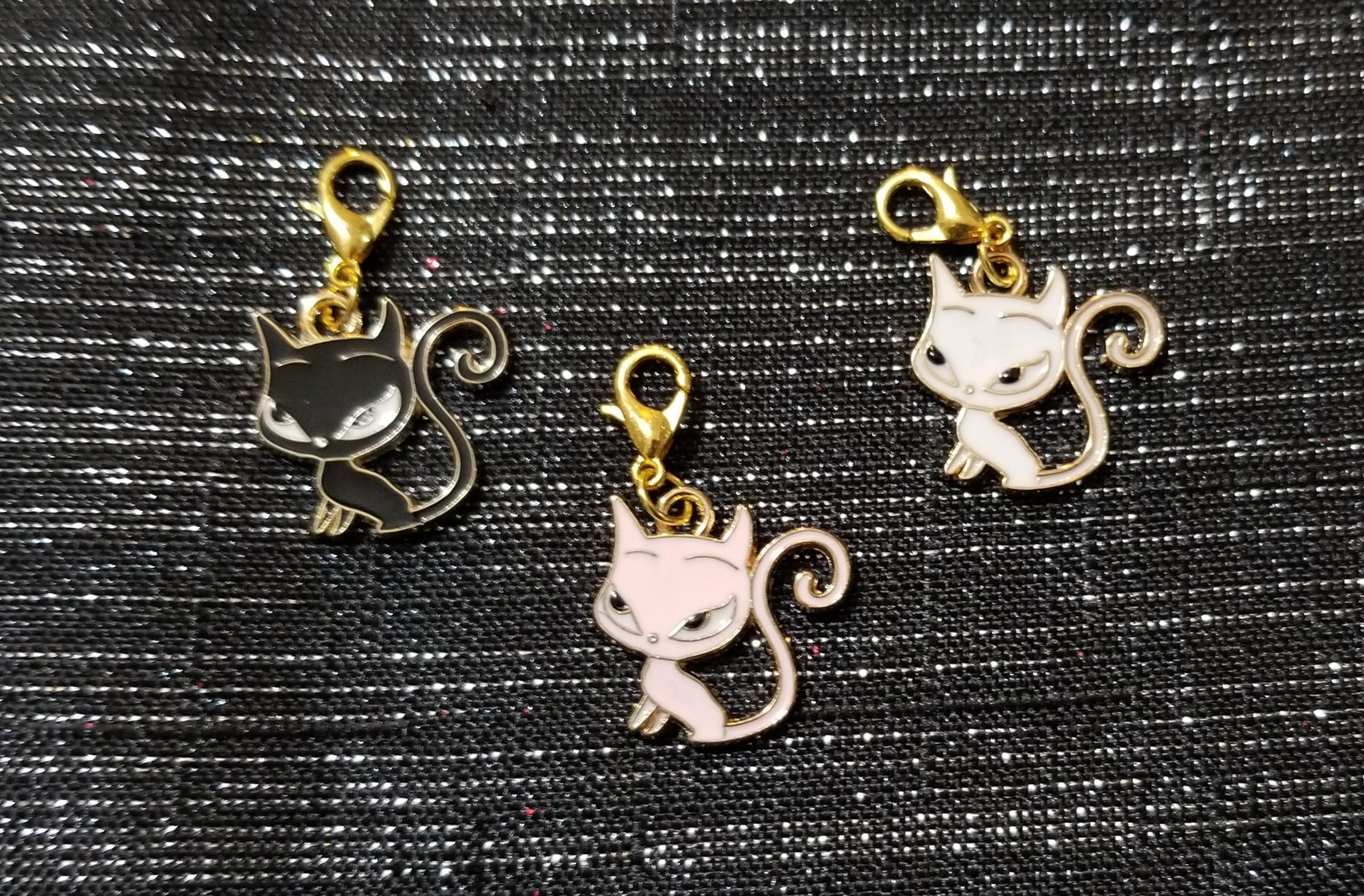 Cat Lobster Clasp Planner Clip / Planner Charm / TN Clip / TN Charm / Dangle Planner Clip / Dangle Planner Charm / Planner Accessory