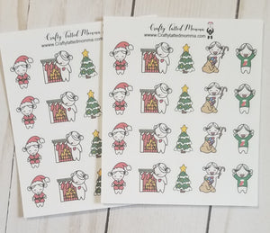 Lil' Mary Christmas Stickers / Holiday Stickers / Character Stickers / Planner Stickers  / Functional Stickers / Lil' Mary Stickers