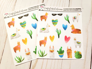 Llama Deco Sheet / Deco Stickers / Planner Stickers / Decorative Stickers / Llama Stickers / EC Stickers / HP Stickers / TN Sticker