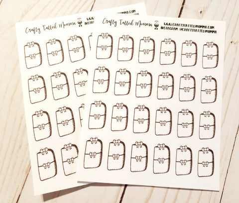Travelers Notebook Doodle Stickers / Doodle Box Collection / Hand Drawn Planner Stickers / Planner Stickers / Sticker Collection / Planner