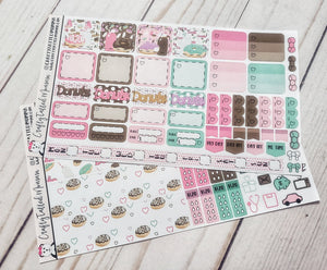 Donuts Deluxe Hobonichi Weeks Sticker Kit   Weekly Sticker Kit   Hobonichi Weeks   Planner Stickers   Mini Stickers   Functional Sticker