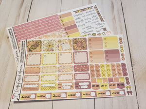 Sunflower Power Deluxe Hobonichi Weeks Sticker Kit   Weekly Sticker Kit   Hobonichi Weeks   Planner Stickers   Mini Stickers   Functional Sticker