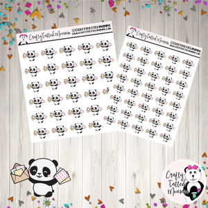 Zoe Got Happy Mail   Panda Stickers   Planner Stickers   Character Stickers   Zoe the Panda   Functional Stickers   Happy Mail. Mail Stickers