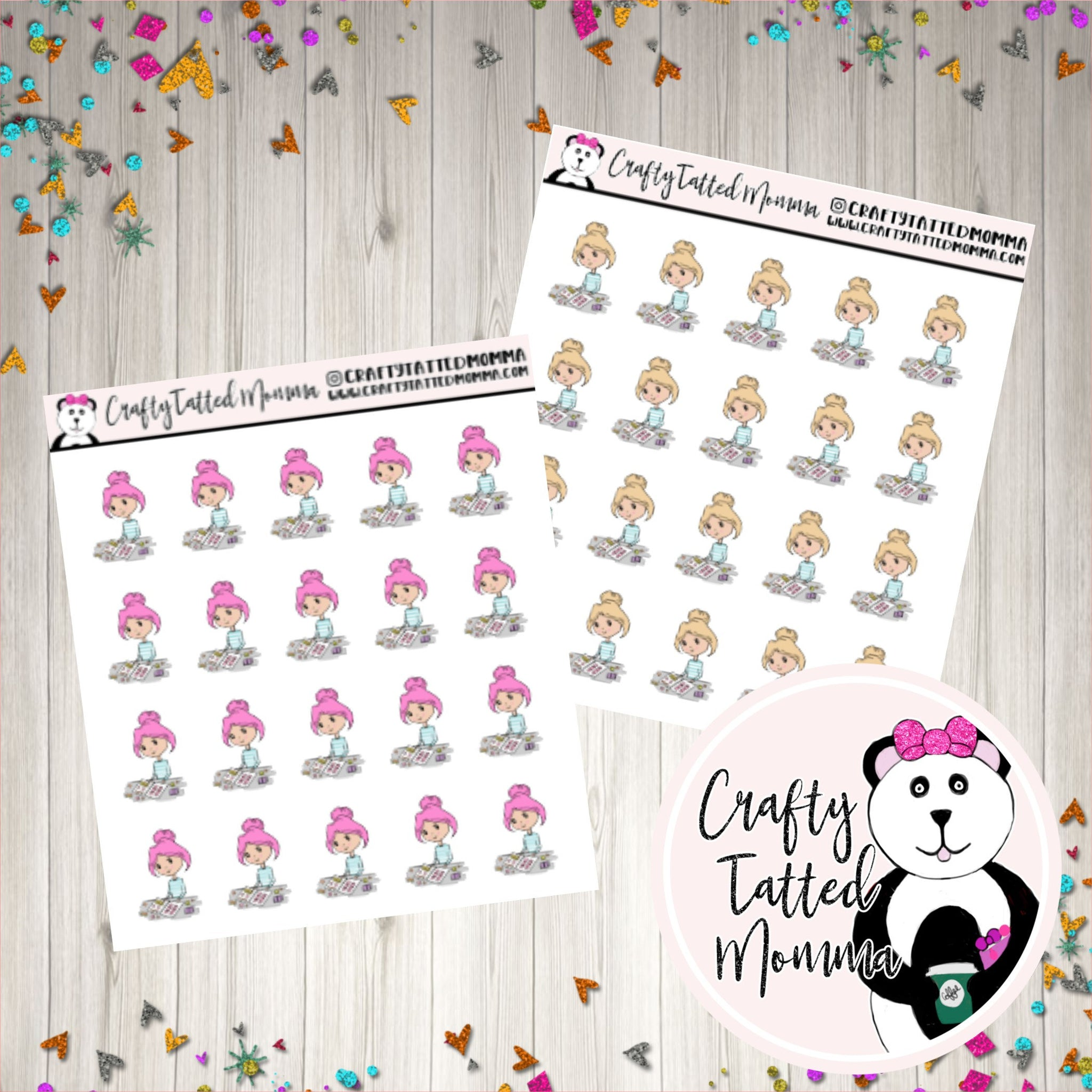 Nevaeh or Trinity Planning   Planning   Character Stickers   Planner Girl Stickers   Holiday Stickers   Deco Stickers