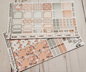 Coral Butterfly Deluxe Hobonichi Weeks Sticker Kit   Weekly Sticker Kit   Hobonichi Weeks   Planner Stickers   Mini Stickers   Functional Sticker