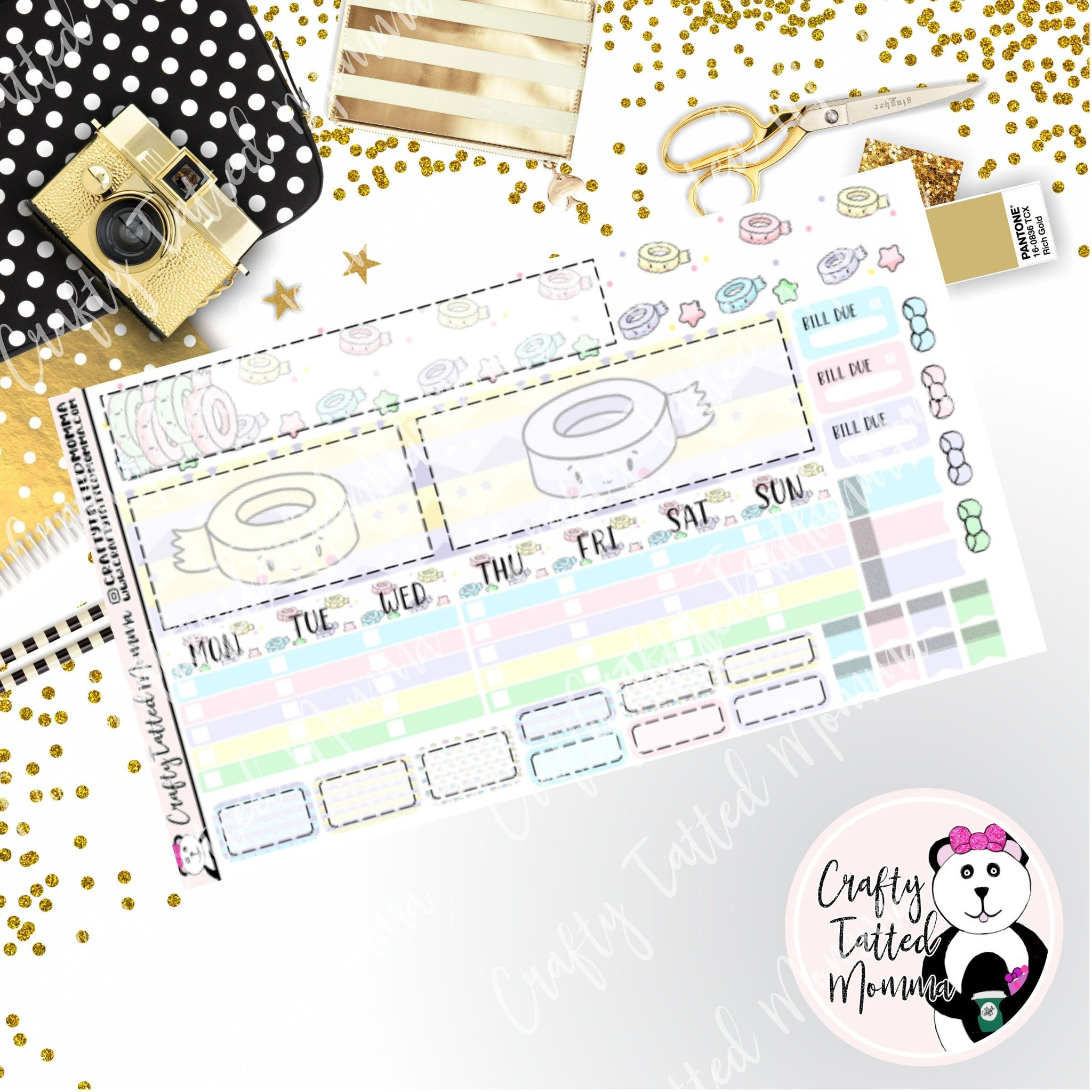 I love Washi Tape Hobonichi Monthly Sticker Kit   Monthly Sticker kit   Hobonichi Weeks   Hobonichi Stickers    Sticker Kit   Monthly View