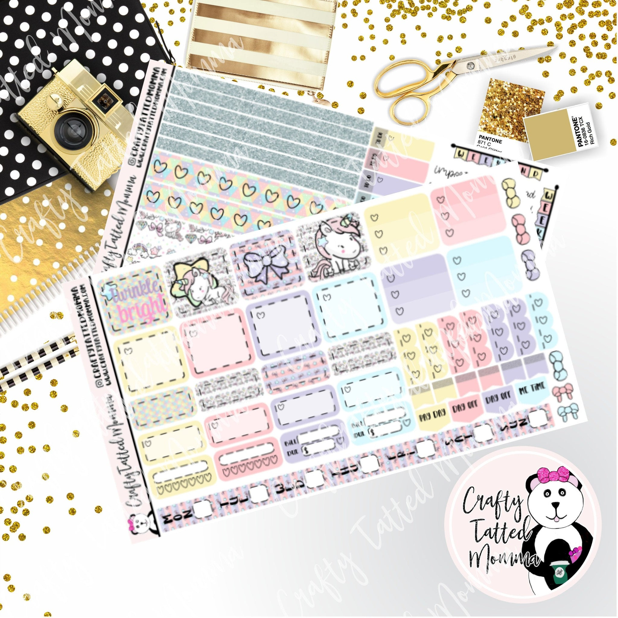 Shine Bright Deluxe Hobonichi Weeks Sticker Kit   Weekly Sticker Kit   Hobonichi Weeks   Planner Stickers   Mini Stickers   Functional Sticker