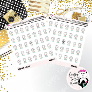 Eunice the Unicorn and Her Washi / Character Stickers / Planner Stickers / Crafting Stickers / Craft Stickers / Unicorn Stickers