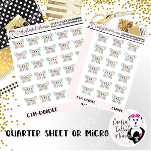 Hand Drawn Tooth Fairy Stickers   Quarter or Micro Sheet   Planner Stickers. Hand Drawn Stickers   Doodke Collection   Tooth Fairy Stickers