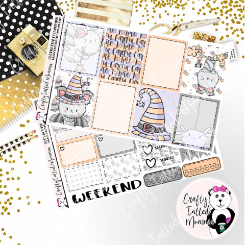 Careful I Bite Weekly Planner Sticker Kit   Mini Weekly sticker Kit   EC Stickers   Traveler's Notebook Stickers   Planner Stickers   Weekly Kit