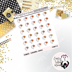 Eunice Loves Caramel Apples   Eunice the Unicorn   Character Stickers   Planner Stickers   Autumn Stickers   Fall Stickers   Deco Stickers