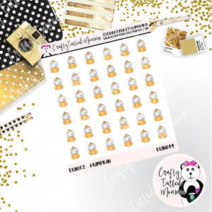 Eunice the Pumpkin   Eunice the Unicorn   Character Stickers   Planner Stickers   Autumn Stickers   Character Stickers   Deco Stickers