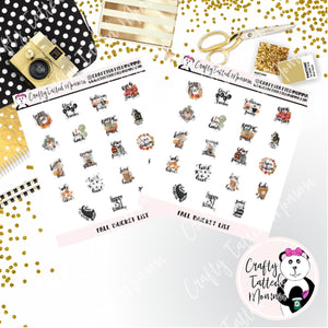 Fall Bucket List   Planner Stickers   Autumn Stickers   Halloween Stickers   Bucket List Stickers   Functional Stickers   EC Stickers   HP Stickers