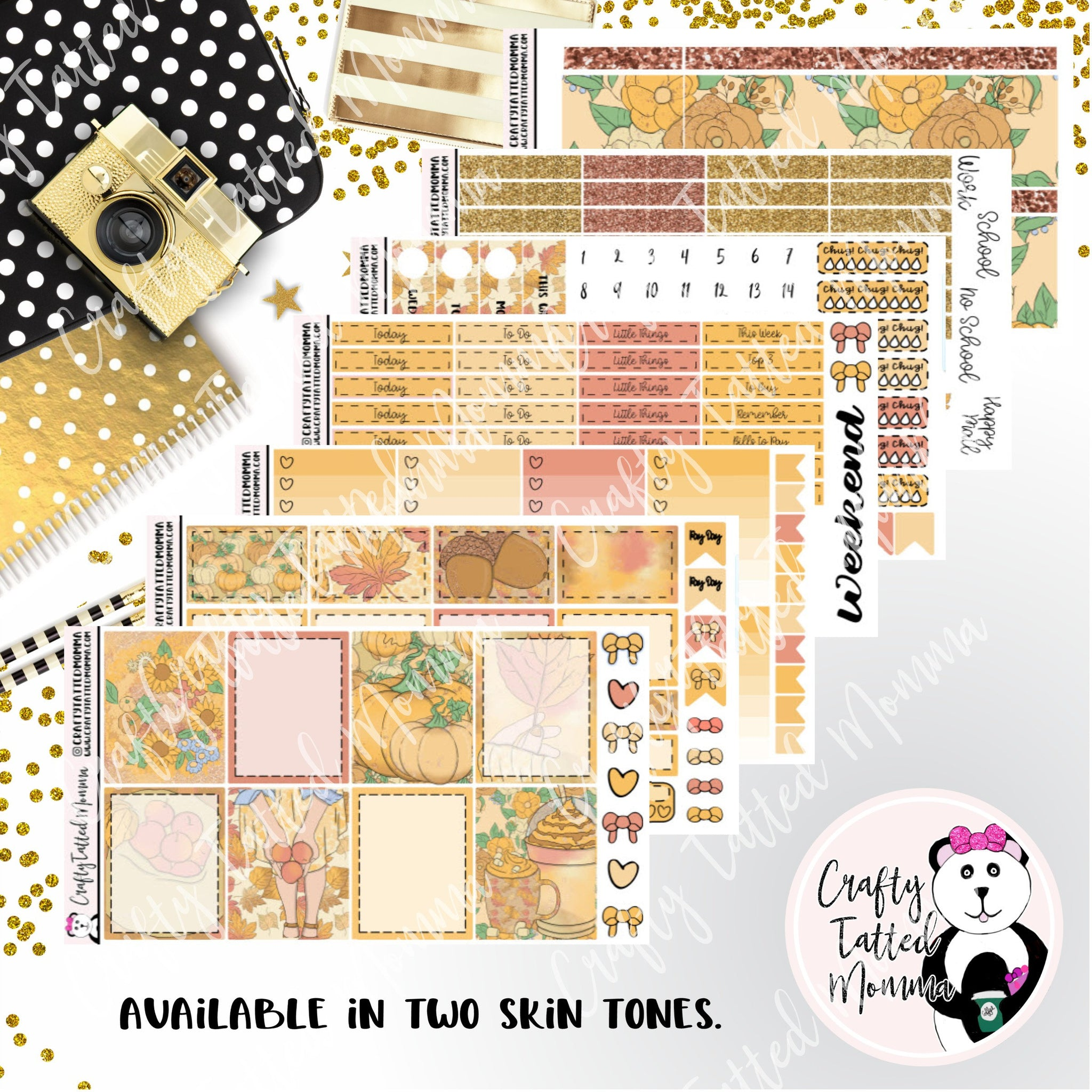 Fall is here A La Carte or Deluxe Weekly Sticker Kit   Planner Sticker Kit   Weekly Sticker Kit   EC Stickers   Planner Stickers   Weekly Sticker
