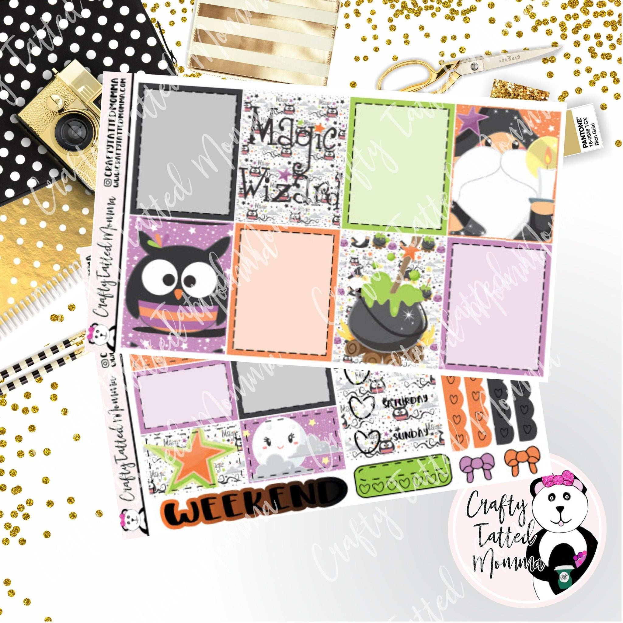 Black Magic Weekly Planner Sticker Kit / Weekly sticker Kit / EC Stickers / Traveler's Notebook Stickers / Planner Stickers / Weekly Kit