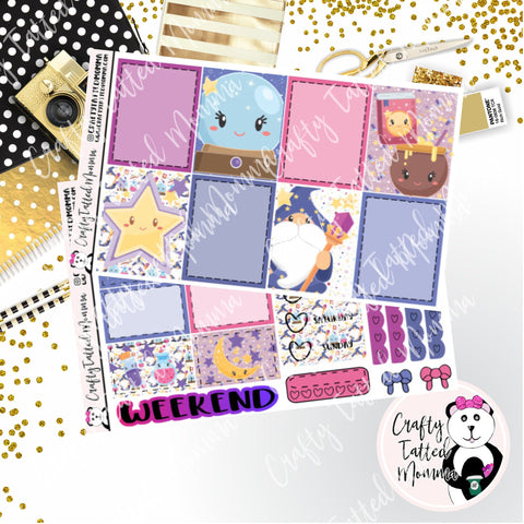 Magic Weekly Planner Sticker Kit / Weekly sticker Kit / Traveler's Notebook Stickers / Planner Stickers / Weekly Kit