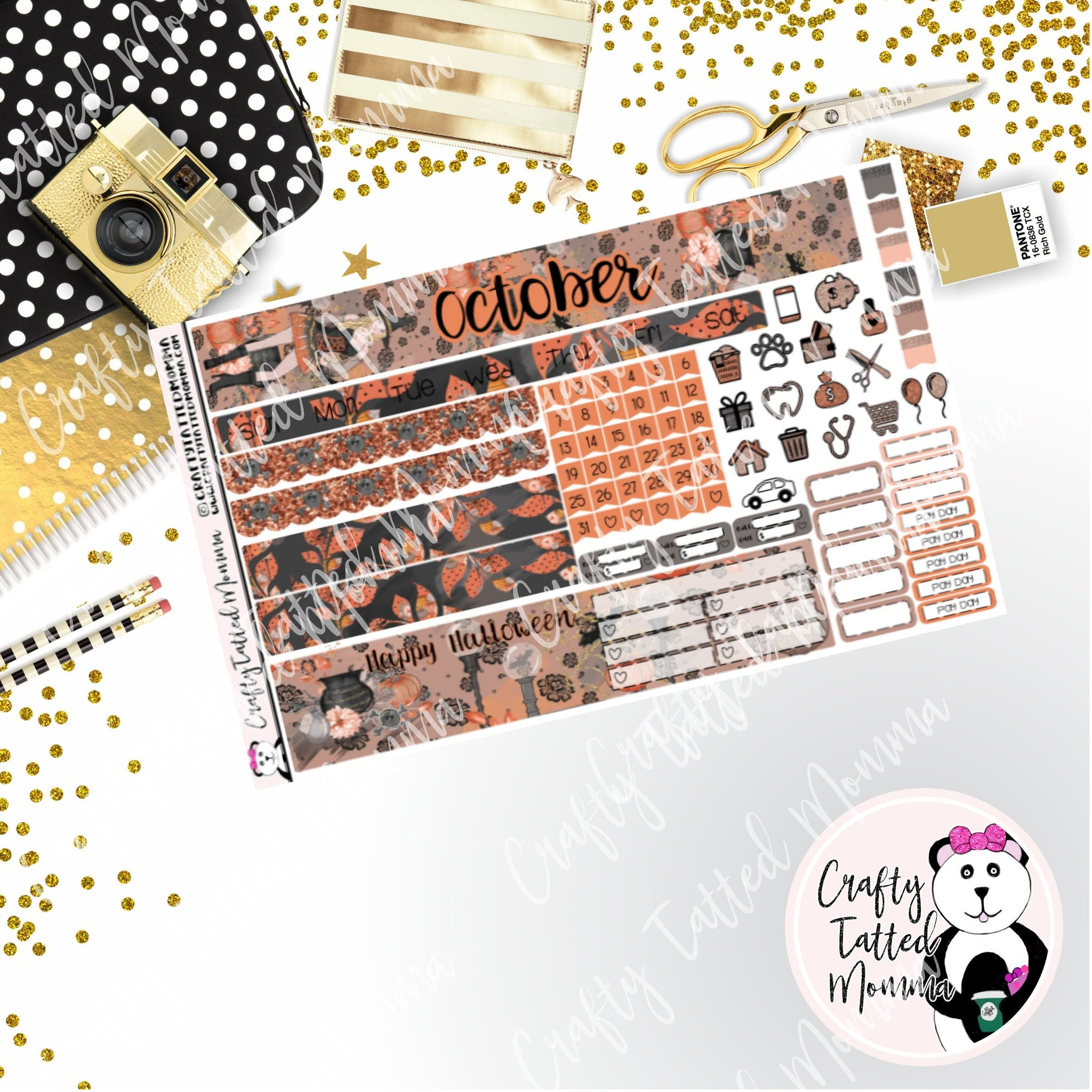 Choose the Month Spooky Girl PP Weeks Monthly Sticker Kit   Choose your month   Monthly Sticker kit   PP Weeks   Planner Stickers    Sticker Kit