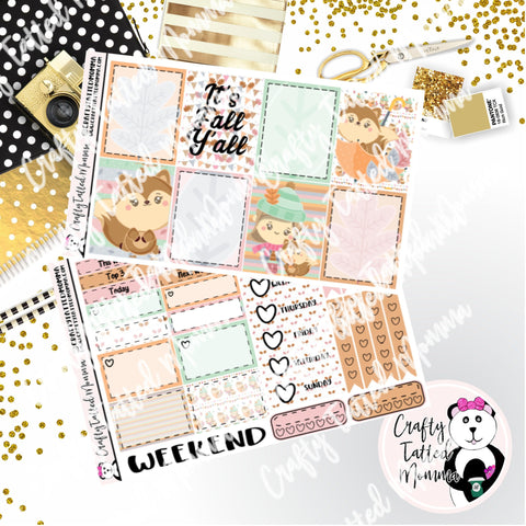 It's Fall Weekly Planner Sticker Kit / Weekly sticker Kit / EC Stickers / Traveler's Notebook Stickers / Planner Stickers / Weekly Kit