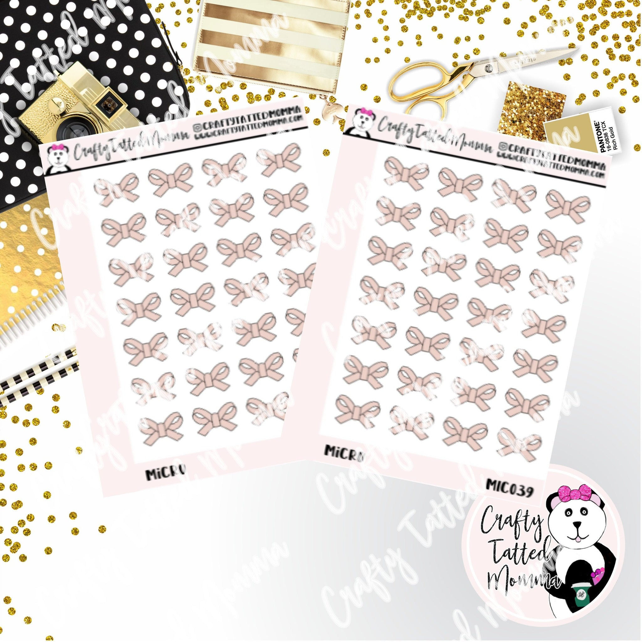 Neutral Bow   Micro Sticker Sheet   Mini Stickers   Planner Stickers   TN Stickers   Hobonichi Stickers   Functional Stickers   Micro Plan