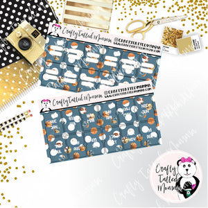Fall Blue Hobonichi and PP weeks Tab Stickers   Sticker Tabs   Weeks Tabs    Adhesive Tabs   Hobonichi and PP weeks Tabs