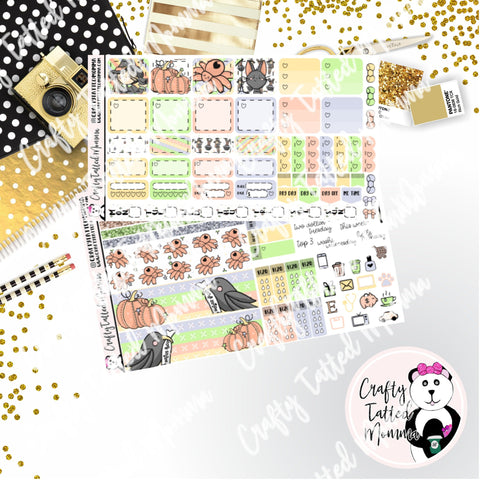 Good Witch Deluxe Hobonichi Weeks Sticker Kit   Halloween Sticker Kit    Weekly Sticker Kit   Hobonichi Weeks   Planner Stickers   Mini Stickers
