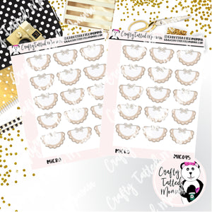 Purple-Gray Doily Micro Sticker Sheet   Mini Stickers   Planner Stickers   TN Stickers   Hobonichi Stickers   Functional Stickers   Micro Plan