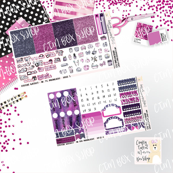 In the Moonlight A La Carte or Deluxe Weekly Sticker Kit   Planner Sticker Kit   Weekly Sticker Kit   EC Stickers   Planner Stickers