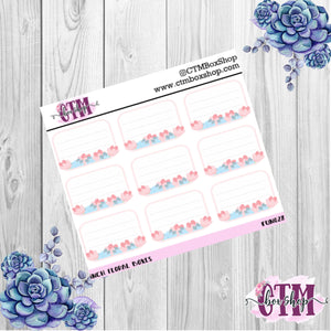 Floral Boxes, PPweeks Boxes, Planner Stickers