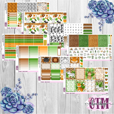 Into the Wild A La Carte or Deluxe Weekly Sticker Kit   Planner Sticker Kit   Weekly Sticker Kit   EC Stickers   Planner Stickers