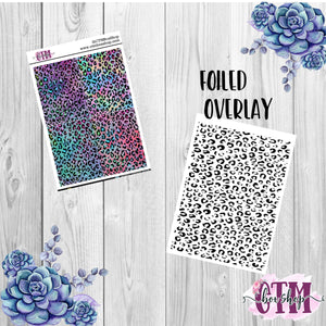 Leopard Foiled Header Stickers, foiled stickers, header stickers, planner stickers, Travelers Notbook stickers, Planner Headers