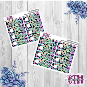 Rainbow Leopard Date Covers   Date Cover Stickers   Planner Stickers   Weeks Stickers   Date Stickers