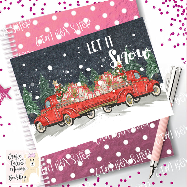 Let it Snow Dashboard / Dashboard / TN Dashboard / Traveler's Notebook Dashboard  / TN Insert / Planner Dashboard / Planner Insert