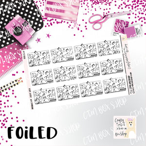 Foiled Manicure Flat Lay Planner Stickers  / Manicure Stickers / Foiled Stickers / Planner Stickers / Flat Lay Stickers