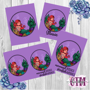 Mermaid Kisses Dashboard / Dashboard / TN Dashboard / Traveler's Notebook Dashboard  / TN Insert / Planner Dashboard / Planner Insert