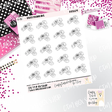 Rose Overthinking  Rose Stickers   Character Stickers   Planner Stickers   Functional Stickers   Emotions Stickers   Deco Stickers