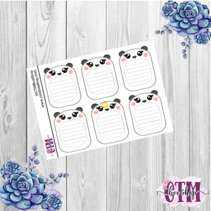 Panda Lined Boxes Stickers   Planner Stickers   Functional Stickers Deco Stickers