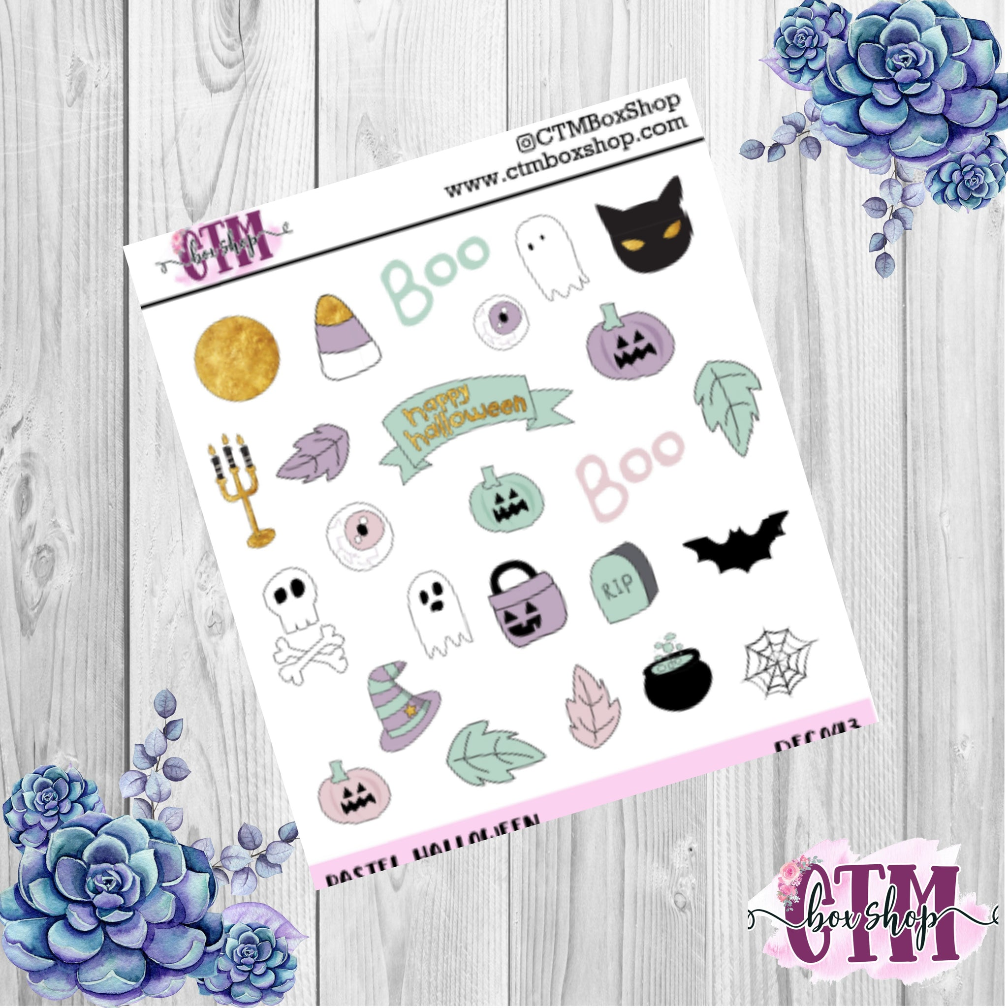 Pastel Halloween Deco Sheet